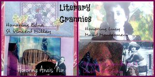 Literary Grannies: Soul Collage Cards Featuring Edna St. Vincent Millar, Lucy Maud Montgomery, Anais Nin, Vita Sackville-West,Charlotte Perkins Gilman