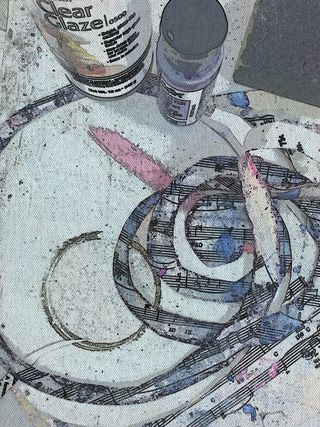 Work in Progress (and Product?) Swirls of Vintage Sheet Music, ready to be put to use.
