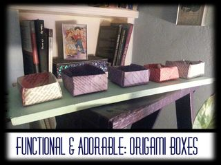 Functional and Adorable Origami Boxes + How to Video