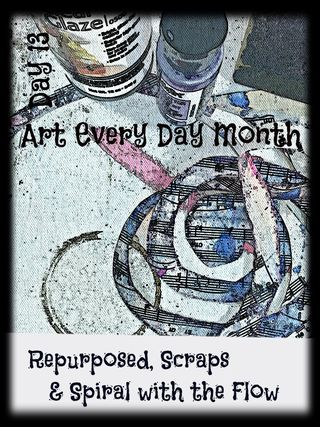 """How to Create Art Upcycling & Repurposing """"Leftovers"""" - which I don't believe in anymore."""