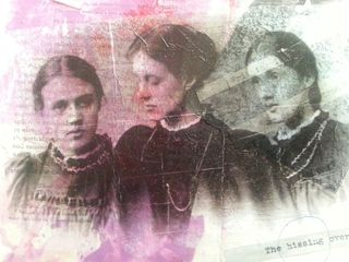 Close up: Virginia Woolf and her sisters on mixed media piece