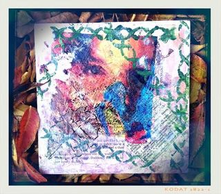 Mixed Media Art using primarily repurposed & upcycled material