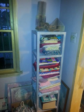 Art Every Day Month Shelf-turned-Invisible-Fabric Closet