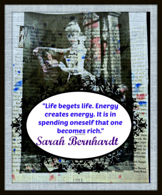 Sarah Bernhard offers inspiration for your blogging, writing & creativity.
