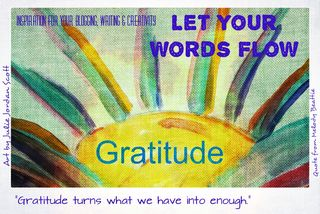 Let your words flow with quote gratitude