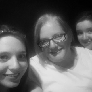 "Mommy Daughter Selfie: We went to see ""The Women"" at the Empty Space - Katherine, Emma and Mommy"