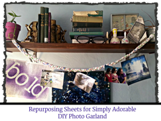Perhaps the simplest and cutest DIY ever for photo display purposes. Braided a la rag rug ropes.... ta da!