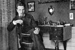 Rainer Rilke at his desk.