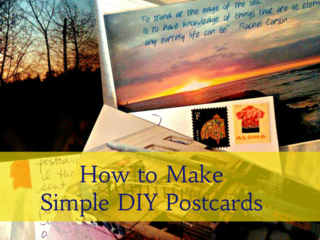 Learn how to make simple DIY Postcards with supplies you have right now in your home.