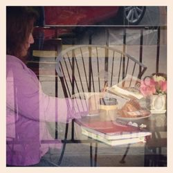 Writing in dagny's through the window