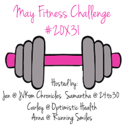 May fitness challenge logo