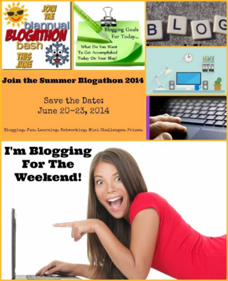 I'm spending my weekend working on my blog with all the awesome people at the Biannual Blogathon Bash!