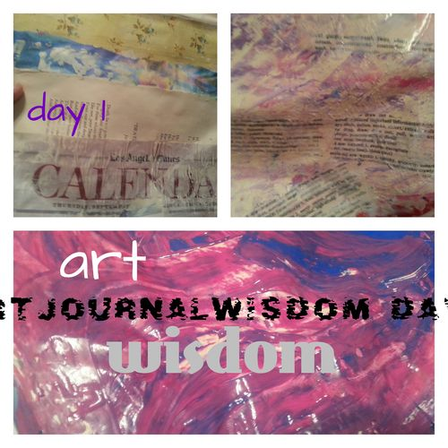 Art journal wisdom day 1 collage