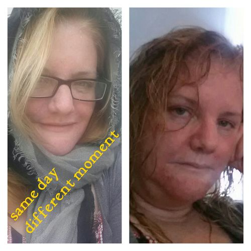 Chemo face same day different moment
