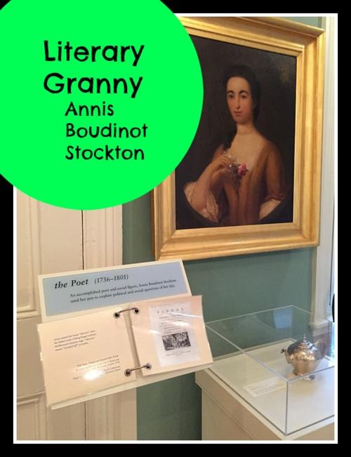 Portrait of Annis Boudinot Stockton hangingn in the Morven Museum and Gardens