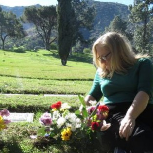 Forest lawn me with flowers