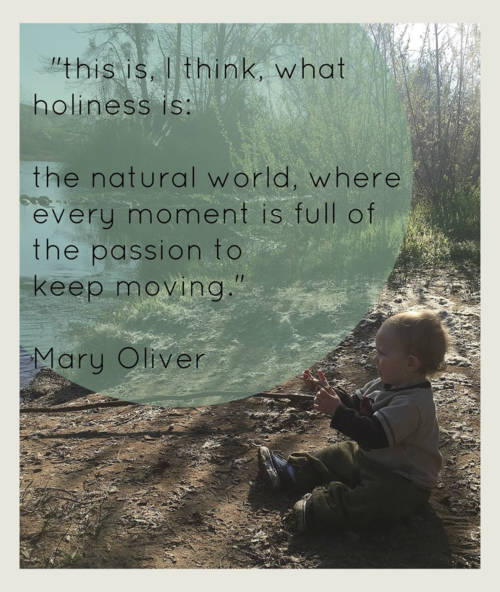 An entirely different way to look at time management -- learned from my toddler grandson and Mary Oliver poetry