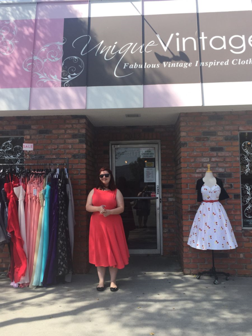 "This is where Emma said ""YES!"" to her prom dress. We traveled to Burbank and made it a special adventure day a few weeks before prom. Unique Vintage - I look forward to visiting again. They had adorable bathing suits!"