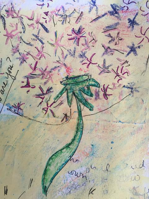 Wish Dandelion in progress colors etc