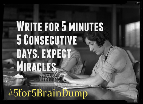 5 for 5 Brain dump 1915 typists