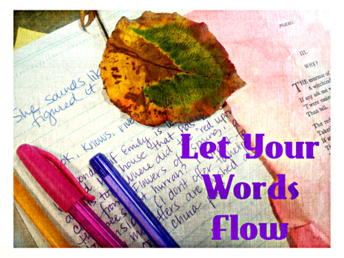 Writing prompts for your writing delight - thematic inspirtation for your blogging, writing and creativity from the Let Your Words Flow series from Julie Jordan scott