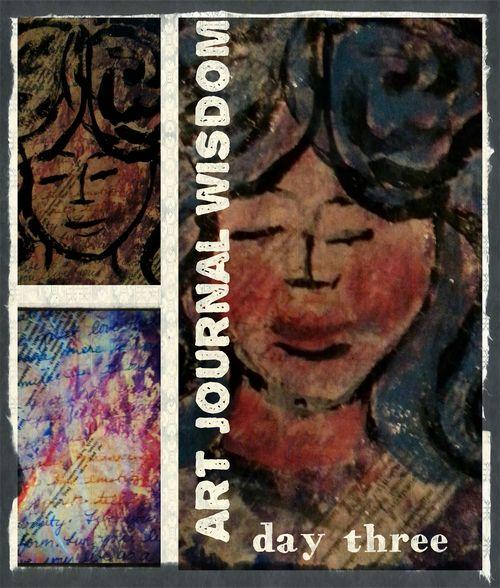 Art journal wisdom day 3 collage
