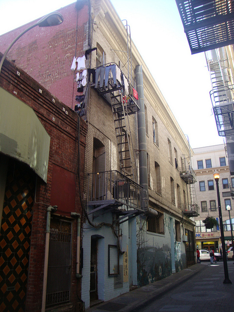 I visited in 2013 and took this view of the Alley from the street level.