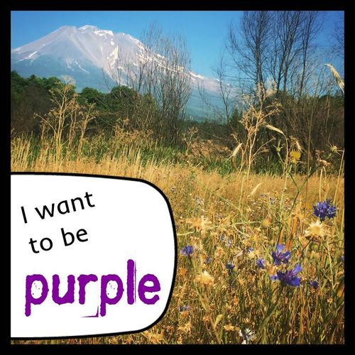 I want to be purple