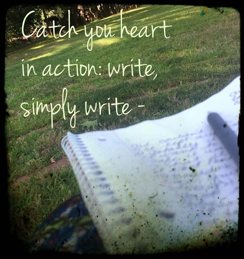 Catch Your Heart in Action - Write simply write