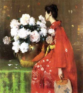 Peonies-1897 william merritt chase