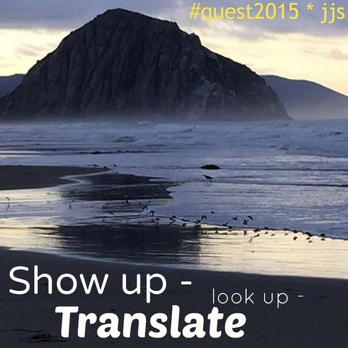 Show up look up translate
