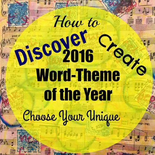How to Discover Create, Chose Your Unique 2016 Word Theme of the year
