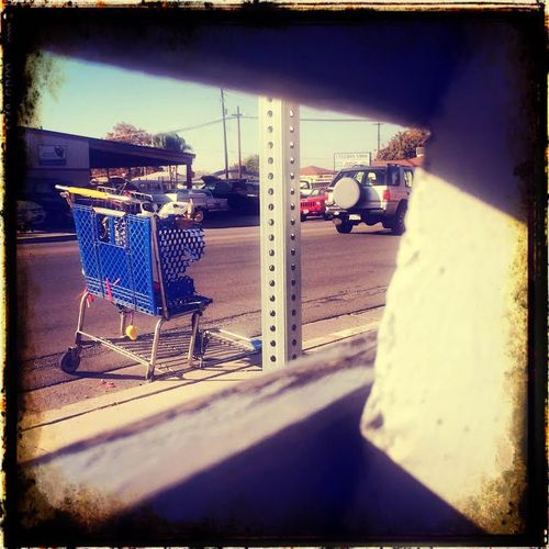 Shopping Cart from behind the bench edited