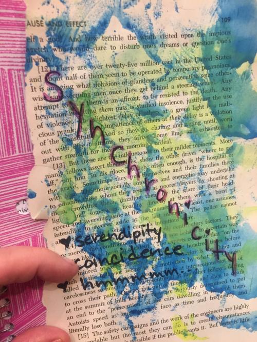 Art journal synchronicity