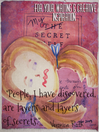 "For Your Writing & Creative Inspiration - ""People, I have discovered, are layers and layers of secrets."" Veronica Roth"