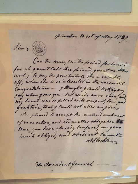I love seeing the handwriting of each Literary Granny. This is a letter from Annis Boudinot Stockton to George Washington