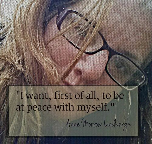 A is for Anne Morrow Lindbergh at peace with myself