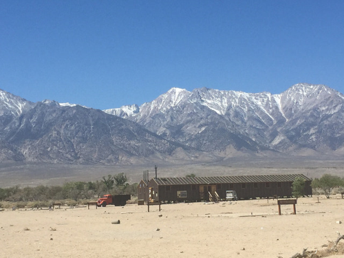 They are recreating some of the buildings at Manzanar - inside the visitor center one may see how densely packed the buildings were. Quite striking against the Eastern Sierra Mountains
