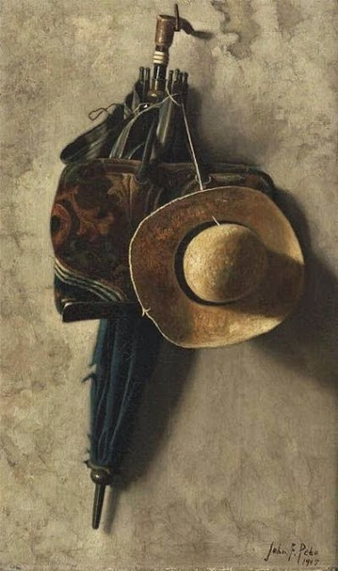 "My Poem: ""Still, It's a Life, Right?"" inspired by Still Life with a Hat, an Umbrella, and a Bag. John Frederick Peto"
