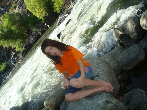 My children are among my favorite subjects. Before the drought in California, the river ran wild - and Emma, now 17, loved it, too.