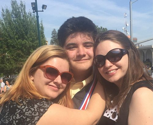 Samuel at graduation