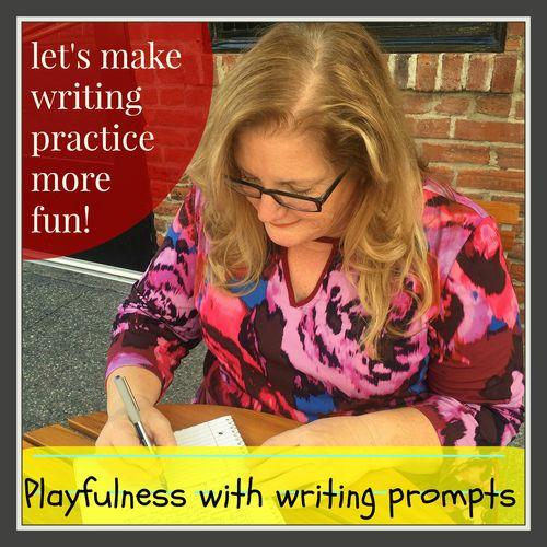 Writing practice fun playfulness grey frame