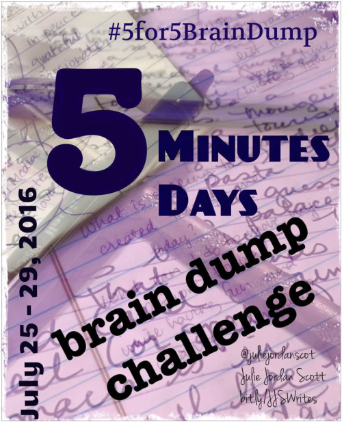 #5for5BrainDump Challenge Image info dense