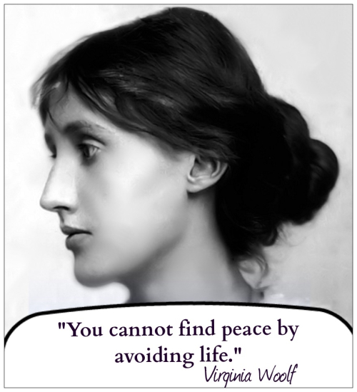 Virginia Woolf with quote